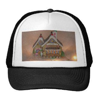 Porcelana de la casa de pan de jengibre gorras