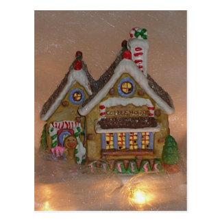 Porcelana de la casa de pan de jengibre postal