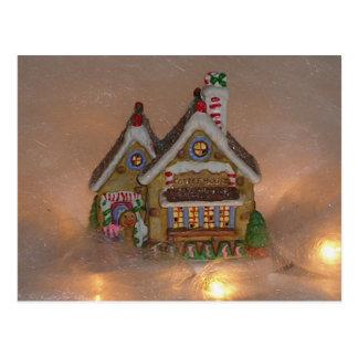 Porcelana de la casa de pan de jengibre tarjeta postal