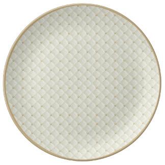 Porcelana moldeada y acolchada hinchada poner plato de cerámica