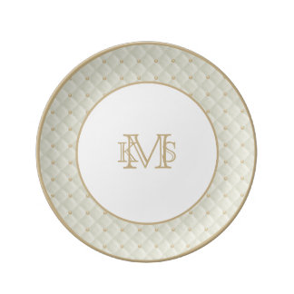 Porcelana moldeada y acolchada hinchada poner platos de cerámica