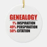 Porcentajes de la genealogía adornos de navidad