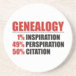 Porcentajes de la genealogía posavasos personalizados