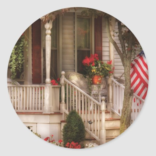 Porch - Americana Classic Round Sticker