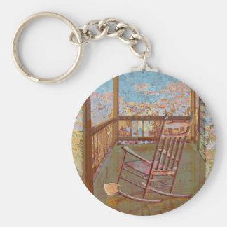 Porch Basic Round Button Keychain