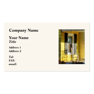 Porch - Long Afternoon Shadow of Rocking Chair Double-Sided Standard Business Cards (Pack Of 100)