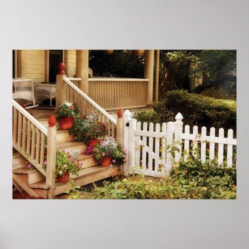 Porch - My Grandmother's Garden Poster