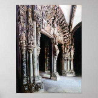 Porch of Glory (Santiago de Compostela) Poster