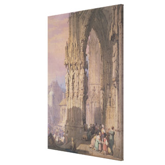 Porch of Regensburg Cathedral Canvas Print