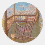 Porch Round Sticker
