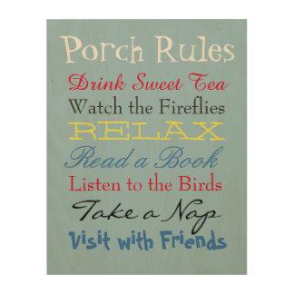 Porch Rules Wood Wall Art