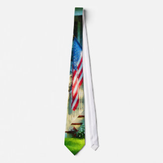 Porch With American Flag Tie