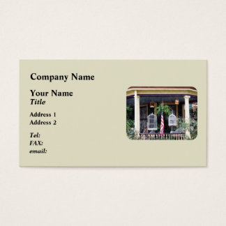 Porch with Bird Cages Business Card