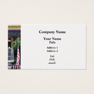 Porch With Bird Cages - Platinum Business Card