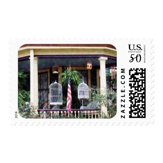 Porch With Bird Cages Postage