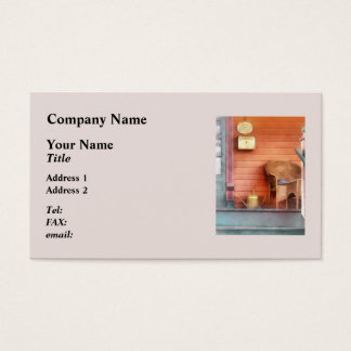 Porch With Brass Watering Can Business Card
