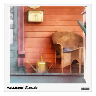 Porch With Brass Watering Can Wall Decal