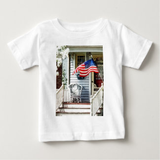Porch With Flag And Wicker Chair T Shirt