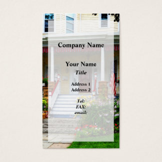 Porch With Front Yard Garden Business Card