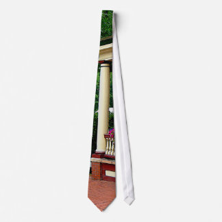Porch with Hanging Baskets Neck Tie