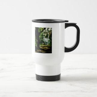 Porch With Pot of Chrysanthemums Coffee Mug