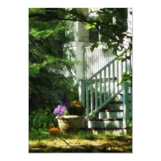 Porch with Urn and Pumpkin Card
