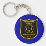 Porchville Police Keychain