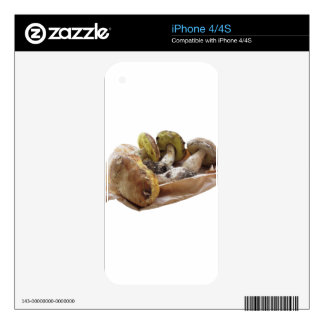 Porcini mushrooms isolated on white background decal for iPhone 4