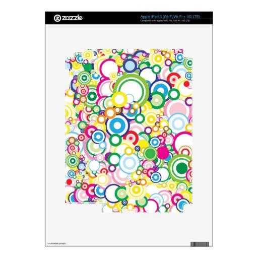 Porción de círculos vivos pegatina skin para iPad 3