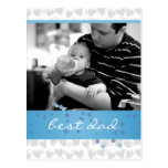 porción de corazones para el mejor papá nunca tarjetas postales