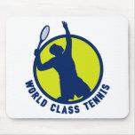 porción de la silueta del jugador de tenis alfombrilla de ratón
