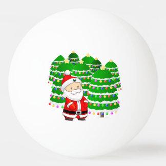Porción de Papá Noel y del árbol de navidad Pelota De Tenis De Mesa