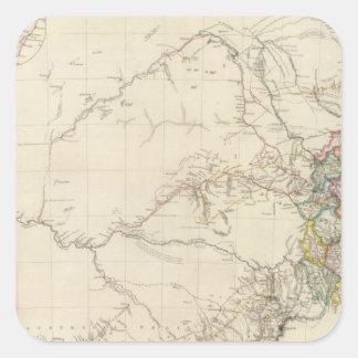 Porción del sudeste de Australia Pegatina Cuadrada