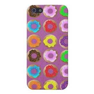 Porción púrpura del buñuelo iPhone 5 cárcasas