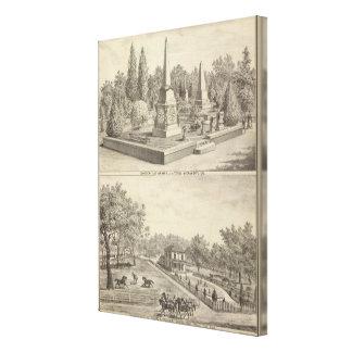 Porción Sacto, arbolado del cementerio del res Lienzo Envuelto Para Galerías