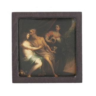 Porción y sus hijas (aceite en lona) 3 caja de recuerdo de calidad