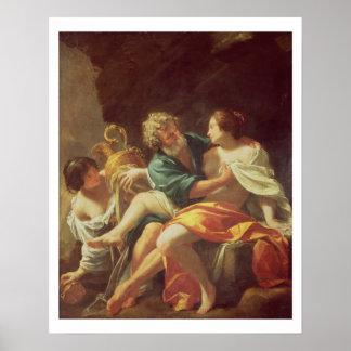 Porción y sus hijas, c.1630 (aceite en lona) impresiones
