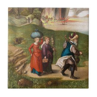 Porción y sus hijas de Albrecht Durer Azulejo Cuadrado Pequeño