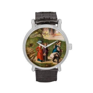 Porción y sus hijas de Albrecht Durer Relojes De Pulsera