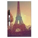 porciones de amor de París Pizarras Blancas De Calidad