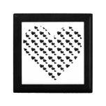 Porciones de amor (modelo) del corazón (negro) cajas de joyas