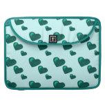 Porciones de amor (modelo) del corazón (verde del  fundas para macbook pro