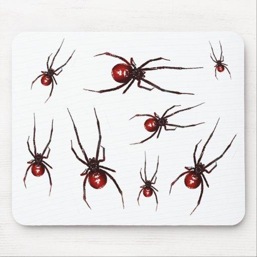 Porciones de arañas del Redback Alfombrilla De Ratón