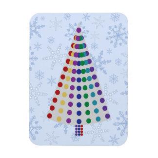 Porciones de árbol de navidad de los puntos en iman flexible