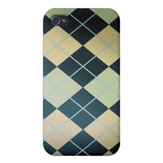 Porciones de Argyle negro iPhone 4 Cobertura