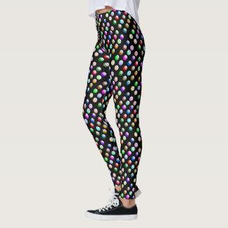 Porciones de caras sonrientes coloridas leggings