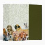 Porciones de carpeta del collage de los perros
