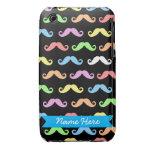 Porciones de caso del iPhone de los bigotes (perso iPhone 3 Case-Mate Funda