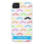 Porciones de caso del iPhone de los bigotes (perso iPhone 4 Case-Mate Carcasa