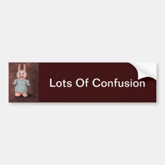 Porciones de confusión pegatina para auto